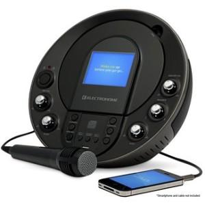 portable karaoke machine with screen